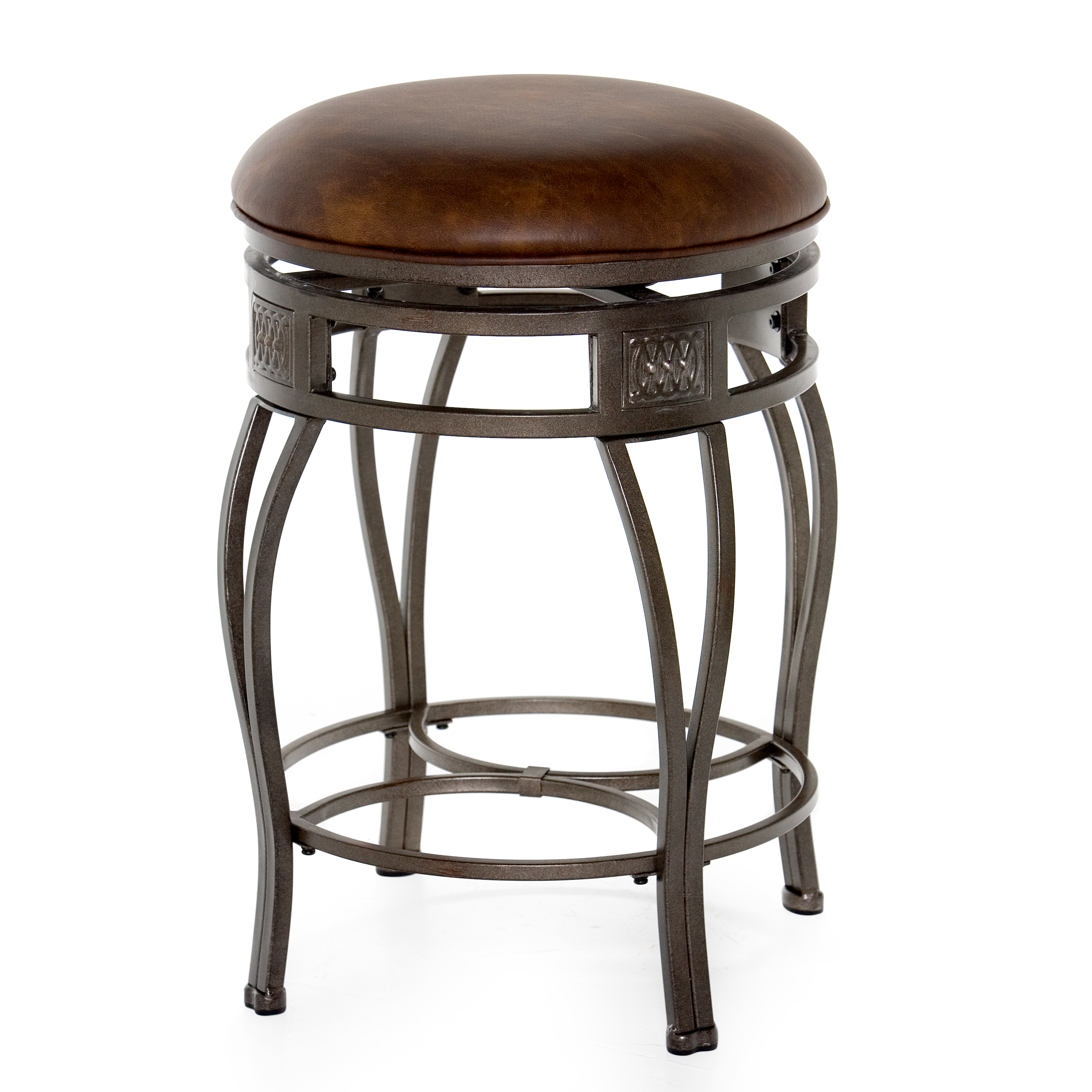 Hillsdale Montello 26 In Backless Swivel Counter Stool