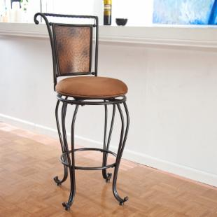 Hillsdale Copper Back Wrought Iron Milan Swivel Counter Stool