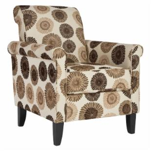 angelo:HOME Harlow Chair Cafe - Brown &amp; Cream Floral
