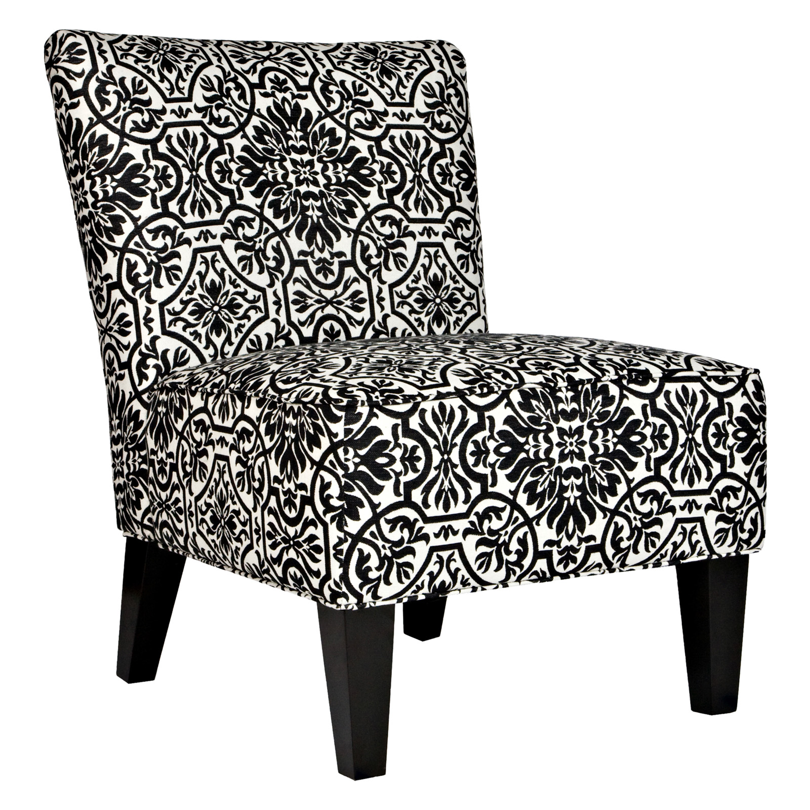 angelo HOME Davis Chair Black & White Damask Accent