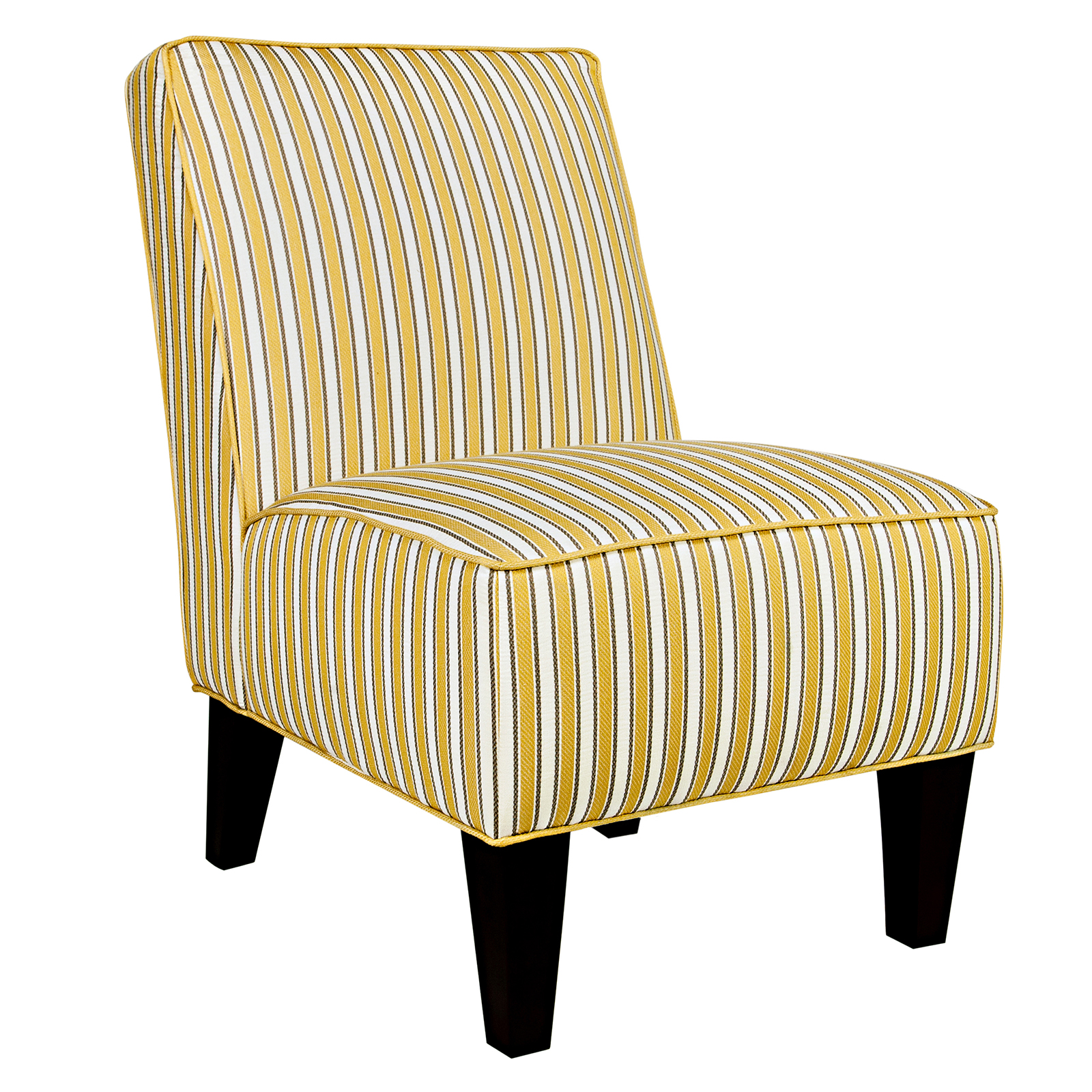 Angelo Home Dover Chair In Cottage Stripe Marigold Yellow