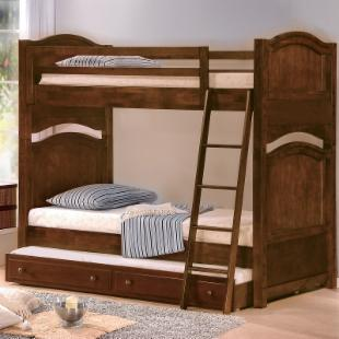 Clarkfield Twin over Twin Bunk Bed with Trundle + 2 Free Mattresses!