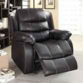Eastfield Leather Glider Recliner - Brown