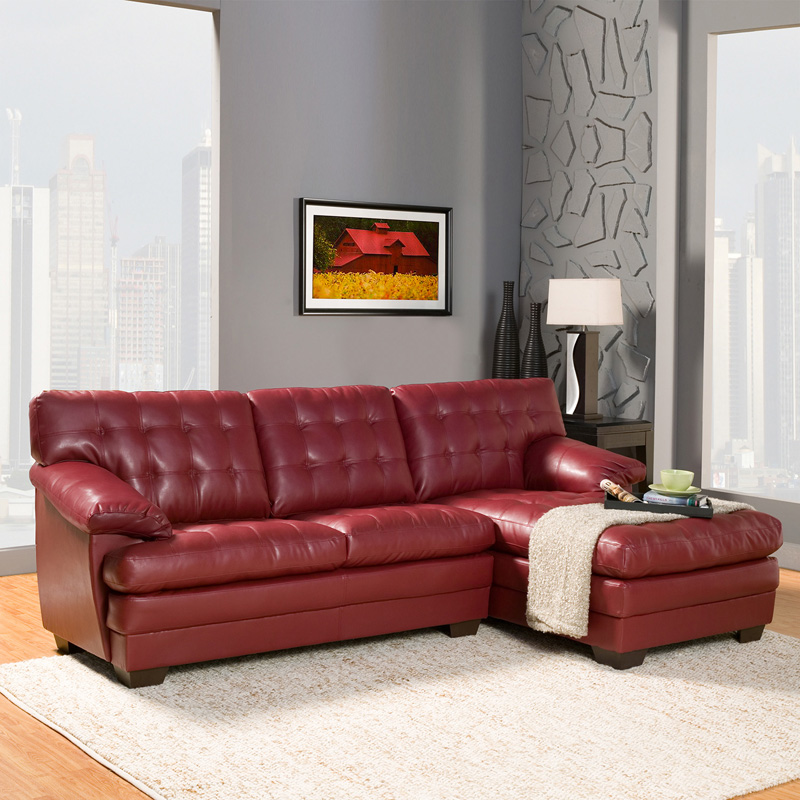 danial leather sectional red sectional sofas at hayneedle