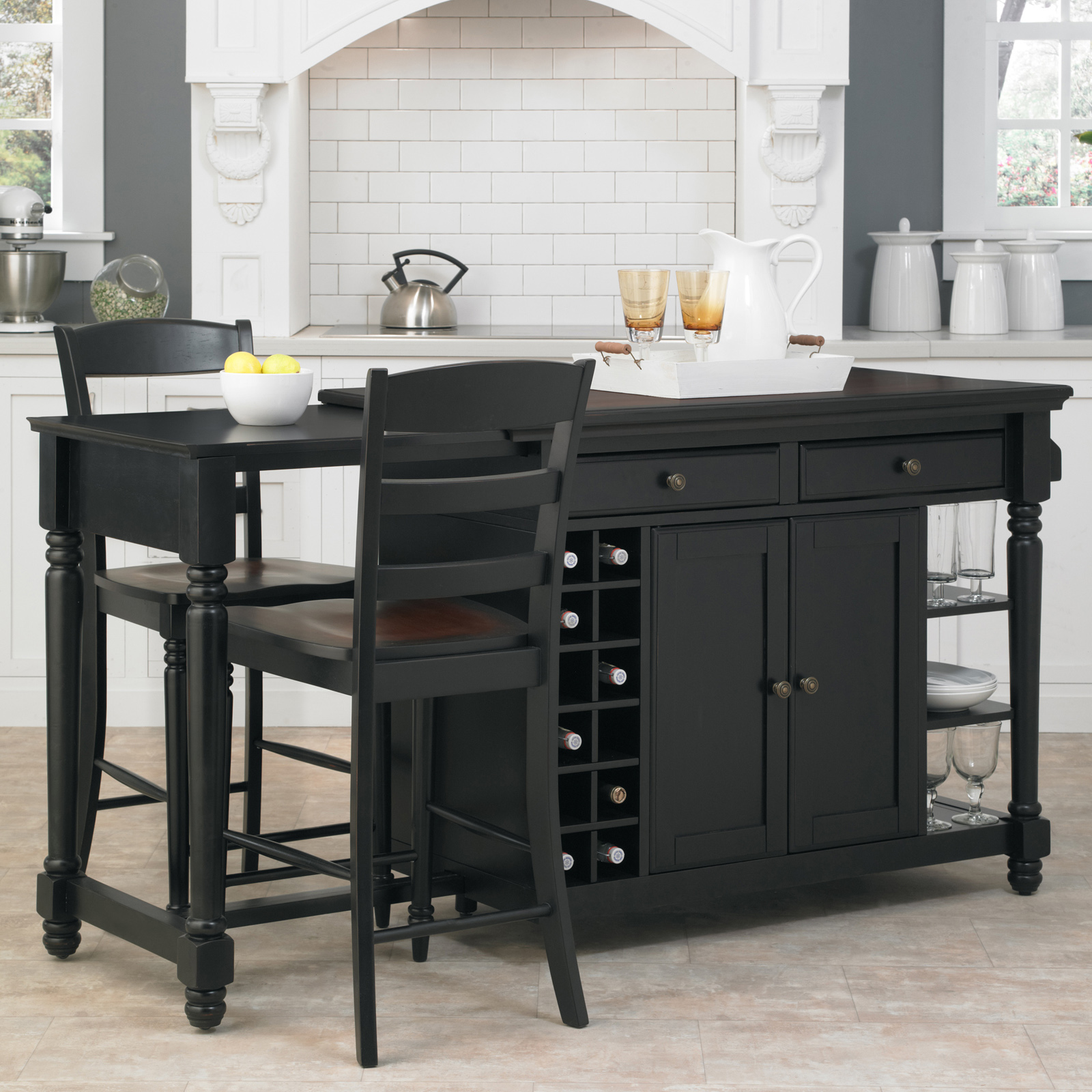 home styles grand torino 3 piece kitchen island stools