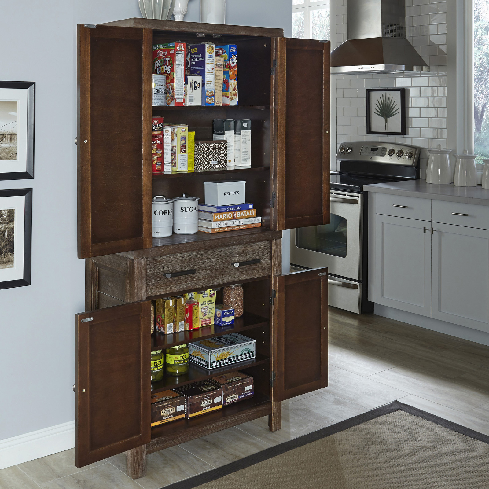 Home styles barnside pantry pantry cabinets at hayneedle - Bathroom pantry cabinets ...