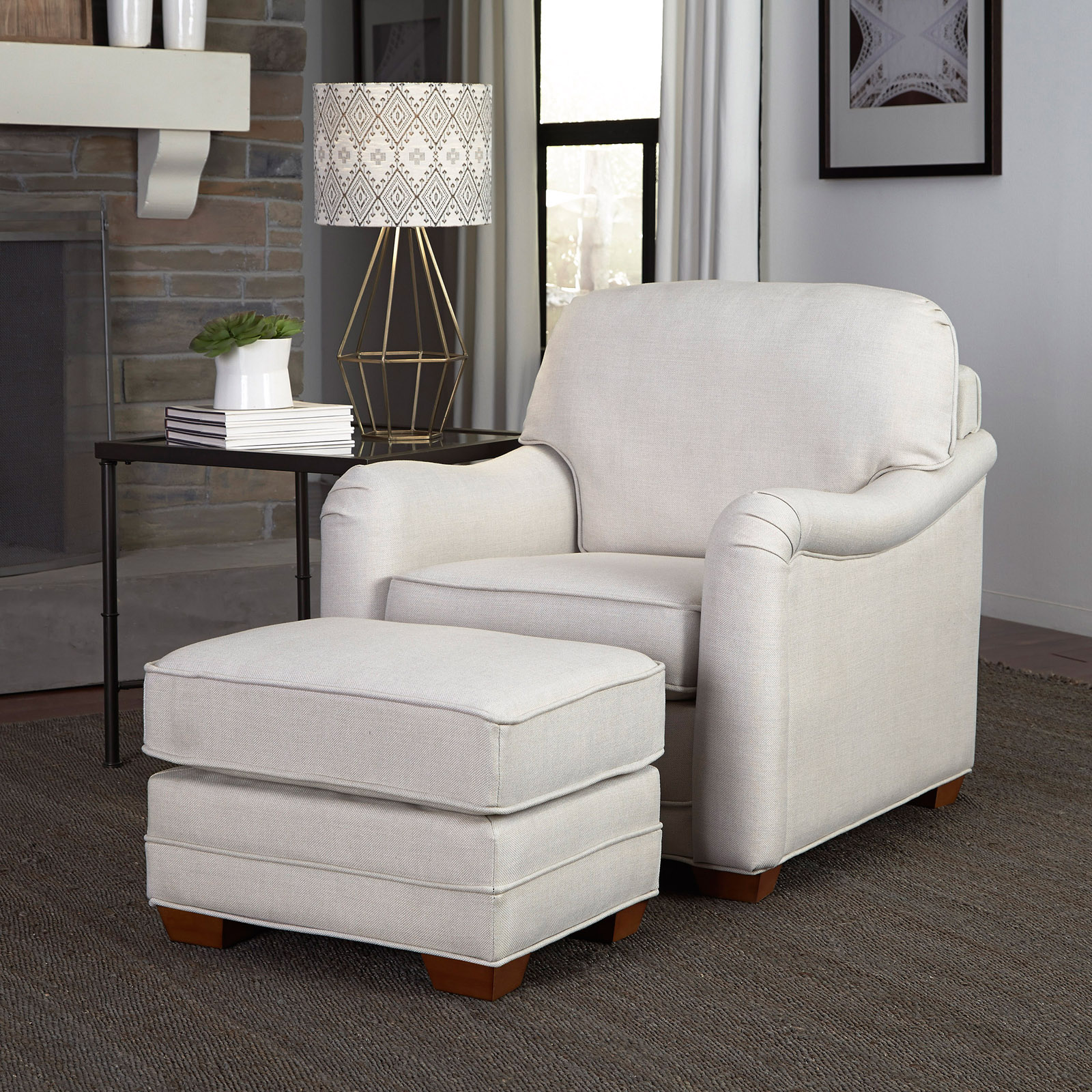 Hannigan Accent Chair Ottoman: Home Styles Heather Stationary Club Chair With Optional