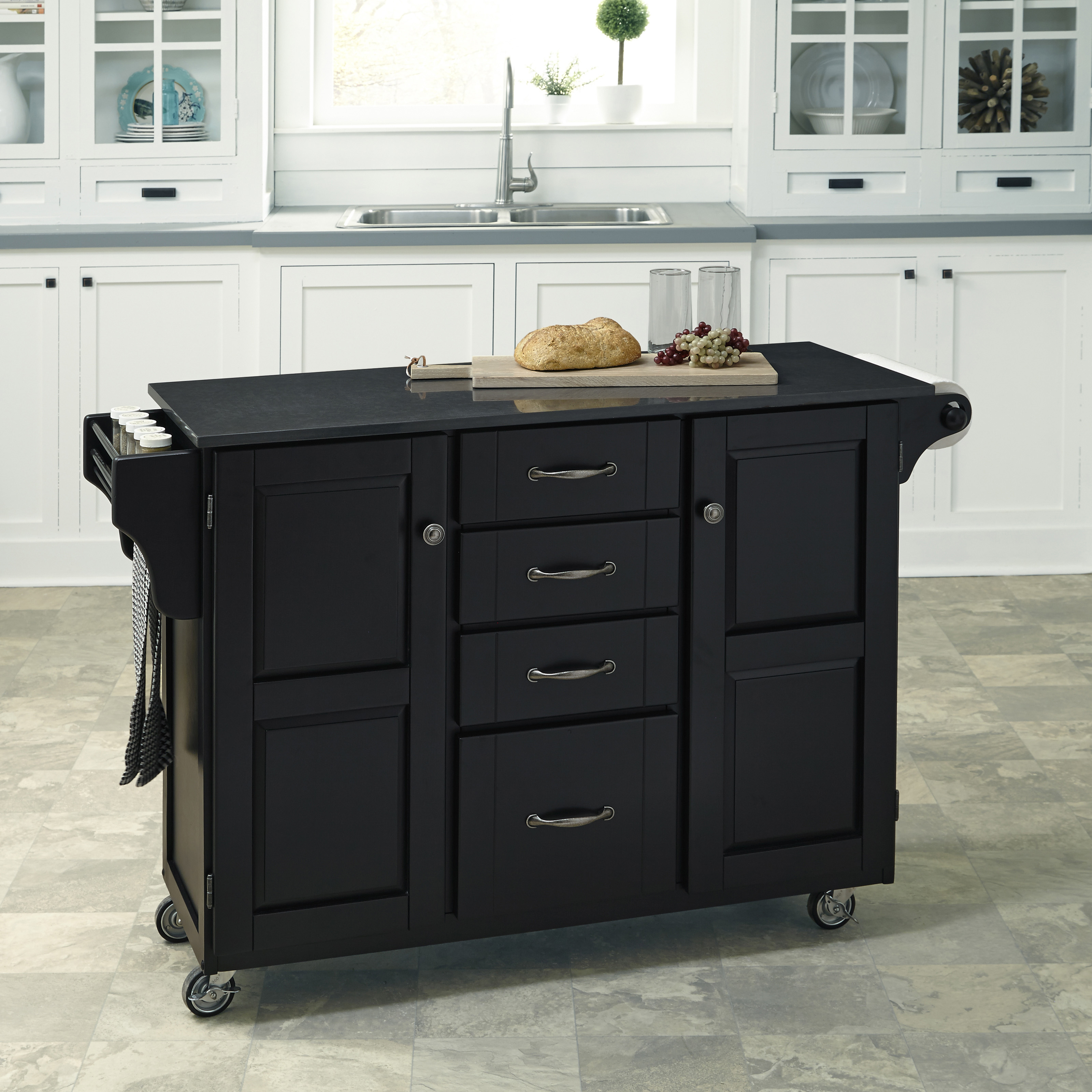 Creating A Kitchen Island: Home Styles Create-a-Cart 35 In. Portable Kitchen Cart