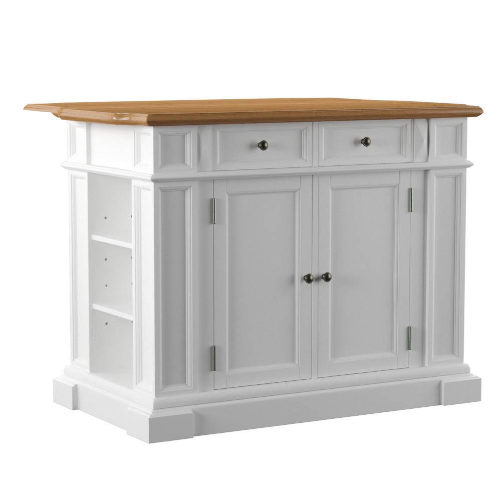 Home Styles White And Oak Finish Large Kitchen Island Kitchen Islands And Carts At Hayneedle