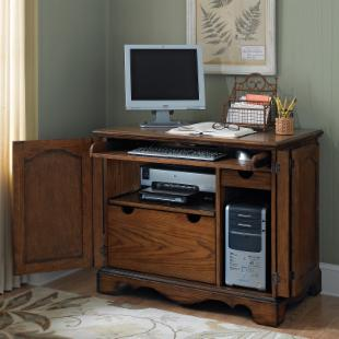 Home Styles Country Casual Compact Computer Armoire