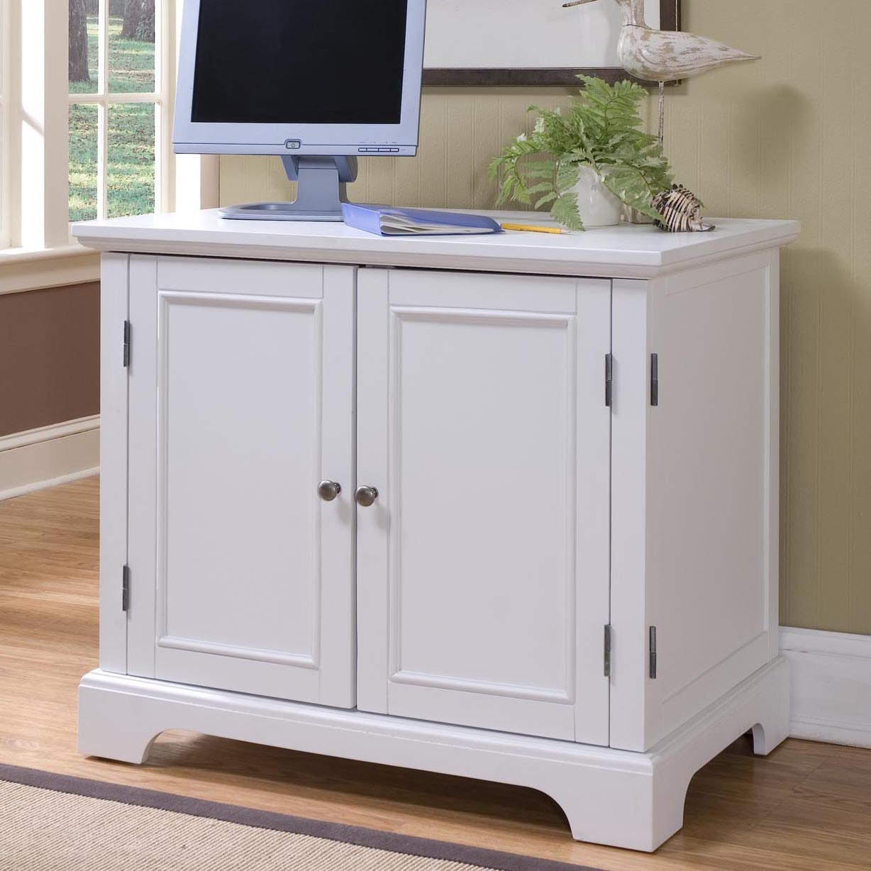 Home Styles Naples Compact Computer Armoire - Computer ...