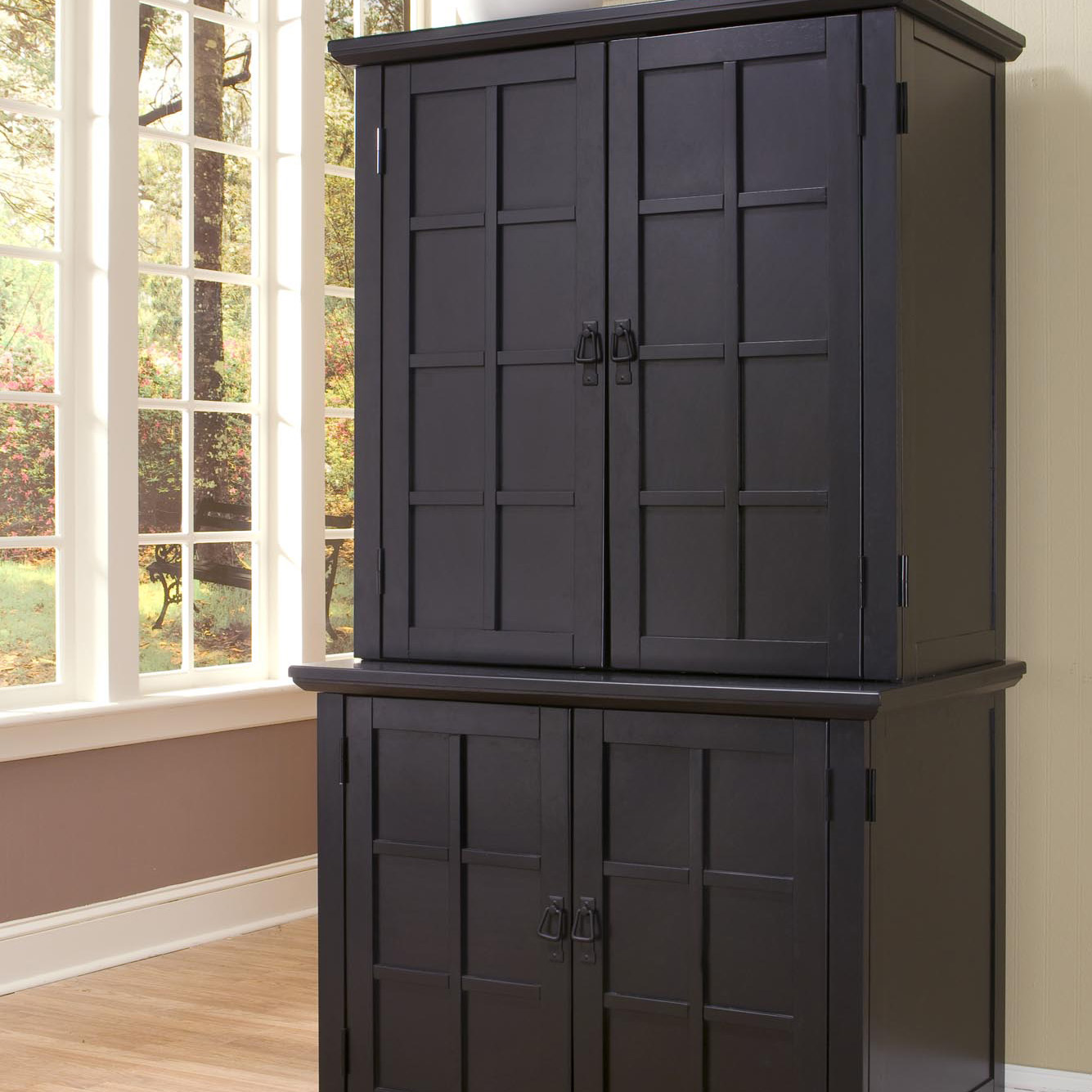 Charmant Home Styles Computer Armoire Home Styles Arts And Crafts Compact Computer  Armoire With