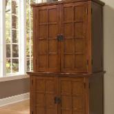  Home Styles Arts and Crafts Compact Computer Armoire with Hutch - Oak