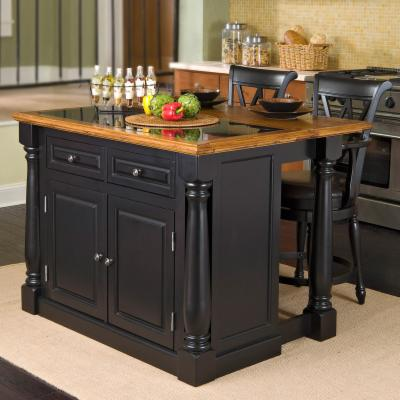 kitchen island with breakfast bar on roll out legs