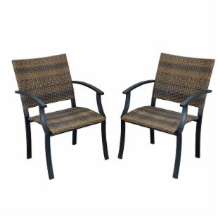 Newport All-Weather Wicker Dining Chairs - Set of 2