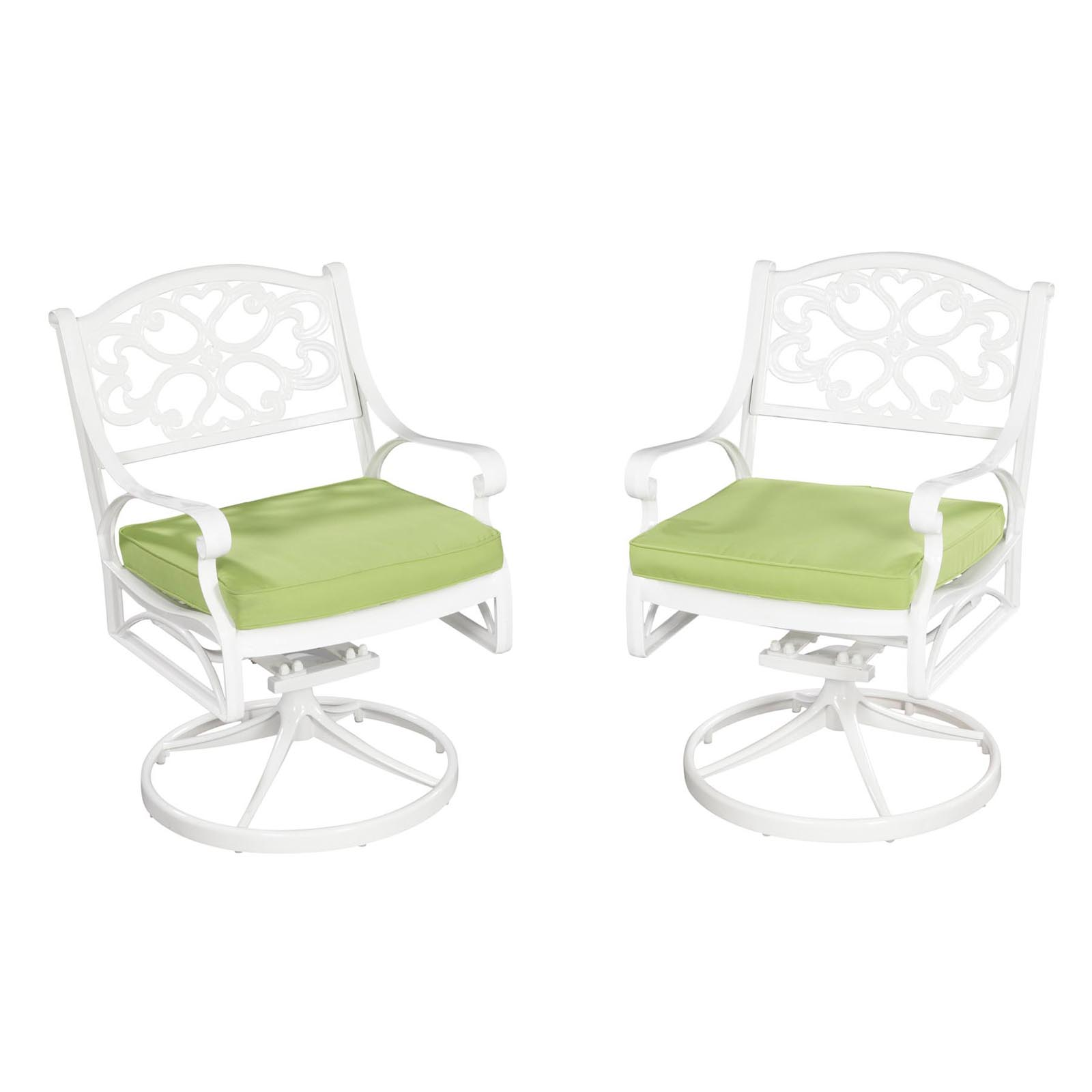 Home styles biscayne swivel patio dining chair outdoor for Furniture 888 formerly green apple