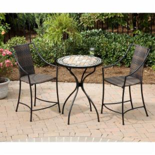 Home Styles Marble High Top Laguna Patio Bistro Set