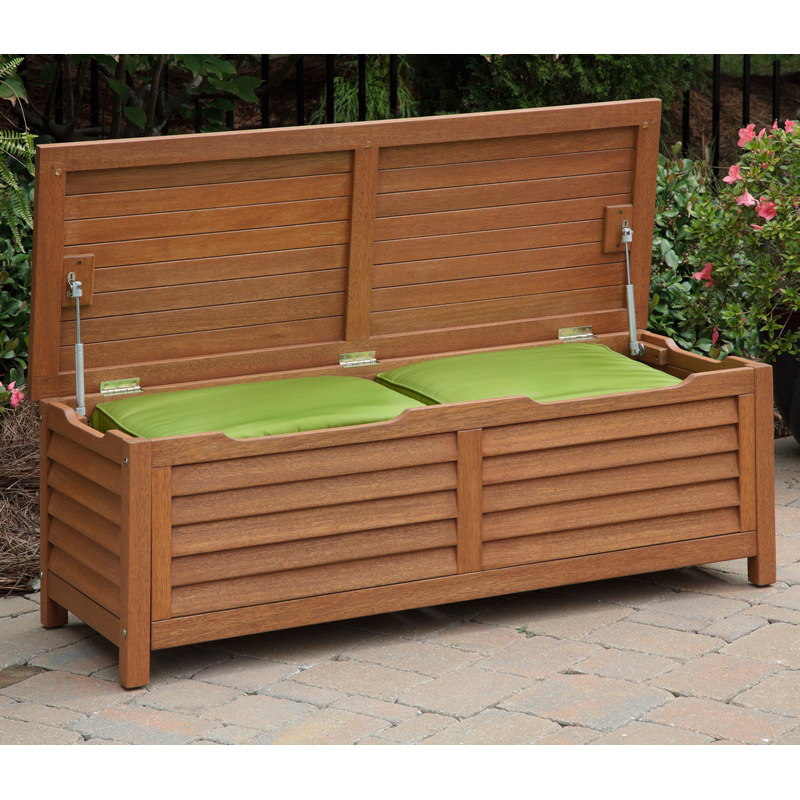 Home Styles Montego Bay 51 In 40 Gallon Deck Box Outdoor Benches At Hayneedle