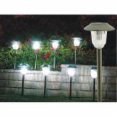  Homebrite Solar Power Olympus Path Lights - Set of 8