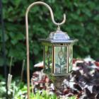  Homebrite Flora Stained Glass Solar Lantern