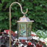  Homebrite Ruby Stained Glass Solar Lantern