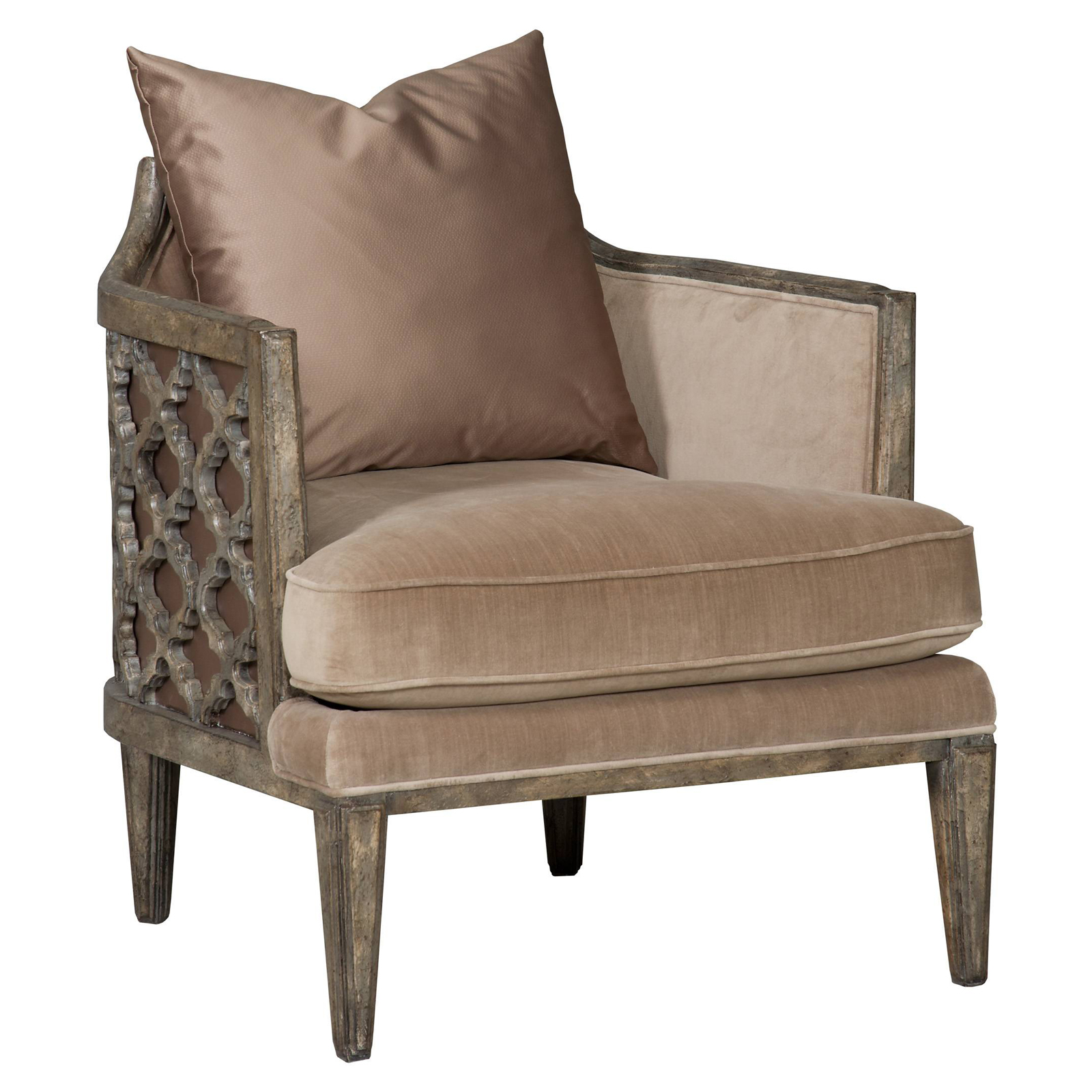 Hooker Furniture Synergy Pewter Glam Sheen Jute Accent Arm Chair Accent Chairs At Hayneedle