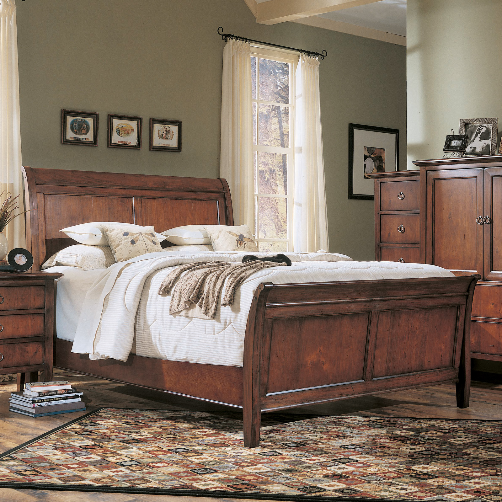 50 Sleigh Bed Inspirations For A Cozy Modern Bedroom: Hooker Furniture Albany Park Sleigh Bed At Hayneedle