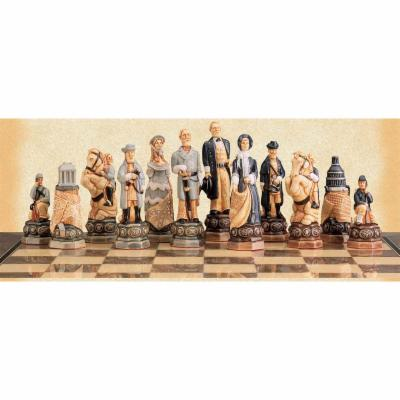  American Civil War Hand Painted Chess Pieces by Studio Anne Carlton