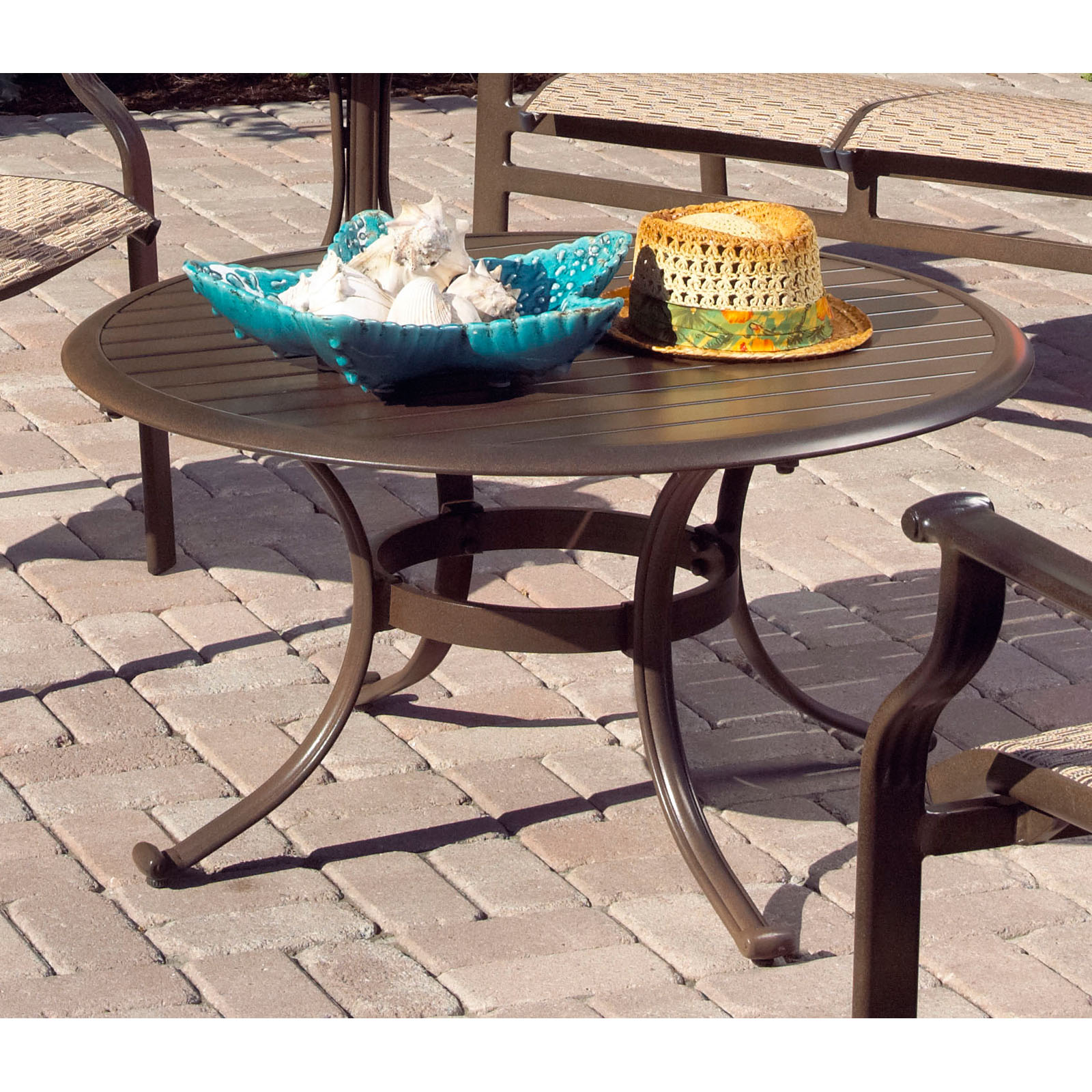 Aluminum Patio Coffee Table: Panama Jack Island Breeze Patio Coffee Table With Slatted