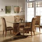  Hospitality Rattan Sea Breeze Indoor 6 Piece Seagrass 48 in. Dining Set - Natural