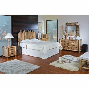 Hospitality Rattan Havana 4 Piece Bedroom Set - Natural Bamboo