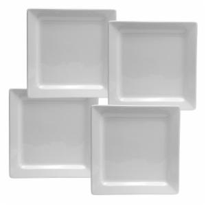 Oneida Chef's Table Square Dinner Plates - Set of 4