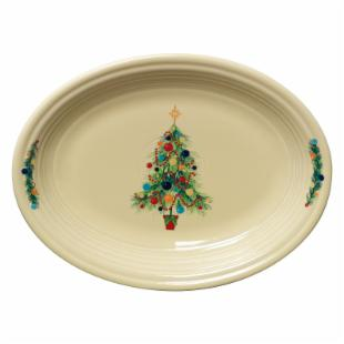 Fiesta Christmas Tree Oval Platter