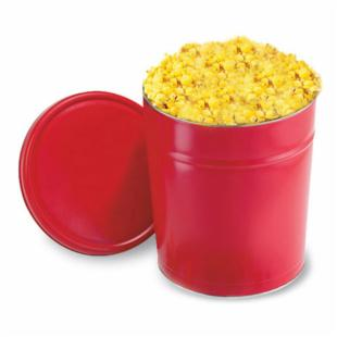 Holly's Popcorn 6 Gallon Single Flavor Red Popcorn Tin