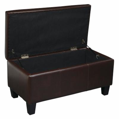 Office Star Detour Storage Bench - Espresso