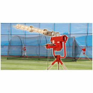 Heater Pro Pitching Machine &amp; Xtender 24ft Batting Cage Package