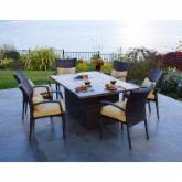  South Beach All-Weather Wicker Fire Pit Dining Set