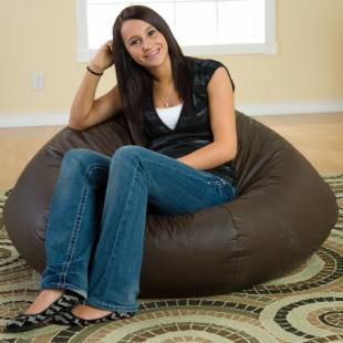 Fashion Large Leather Look Vinyl Bean Bag Chair