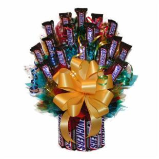 All Snickers&trade; Candy Bouquet