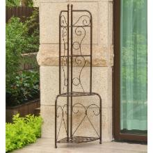  Mandalay Corner Outdoor Wrought Iron Folding Rack
