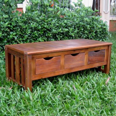International Caravan Brodkey Backless Indoor/Outdoor Bench with Drawers