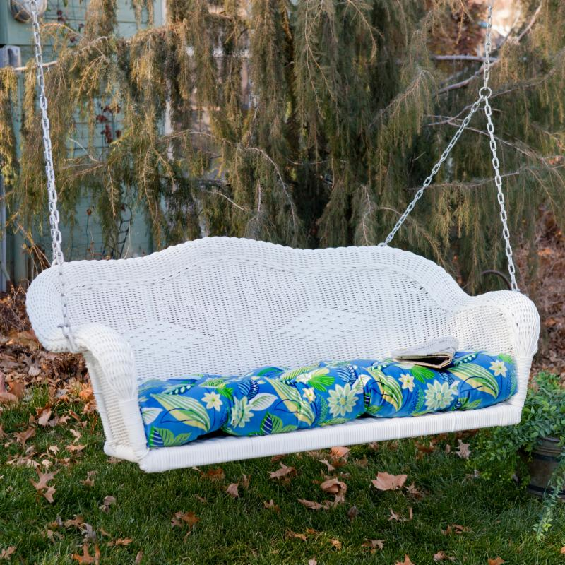 International Caravan All Weather Wicker Swing w/ Cushion, Numerous Finish and Color Choices FREE Shipping!