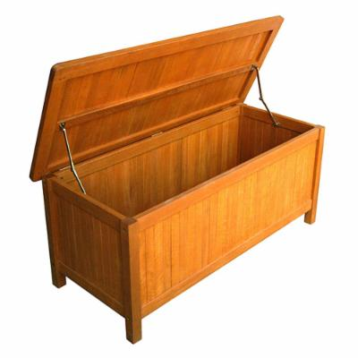 International Caravan Royal Tahiti Outdoor Balau Storage Bench