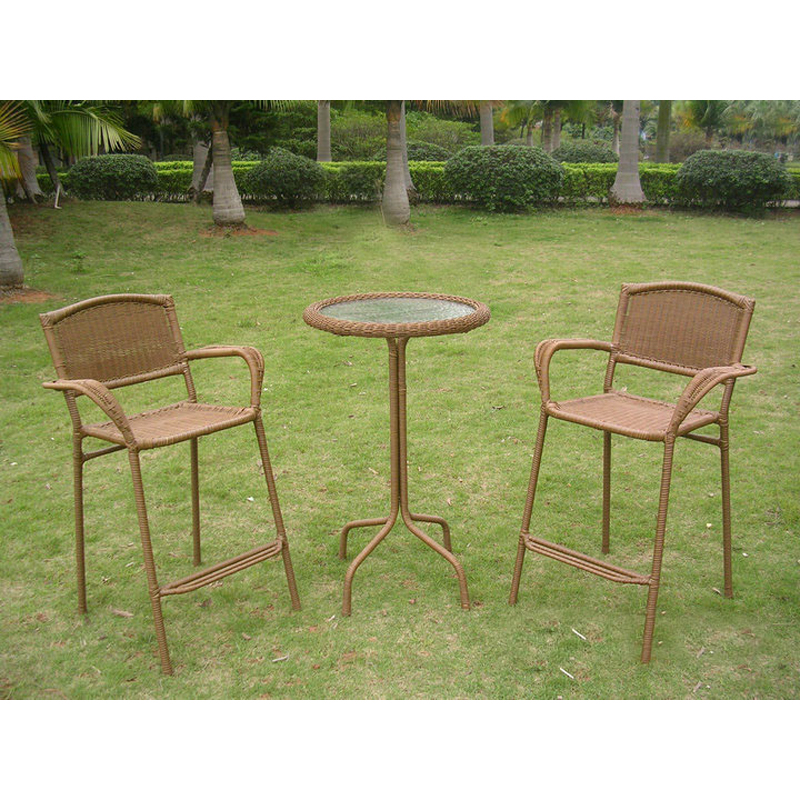 wicker bar height patio bistro set patio dining sets at hayneedle