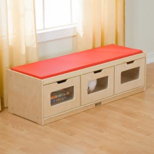 Guidecraft Easy View Storage Bench