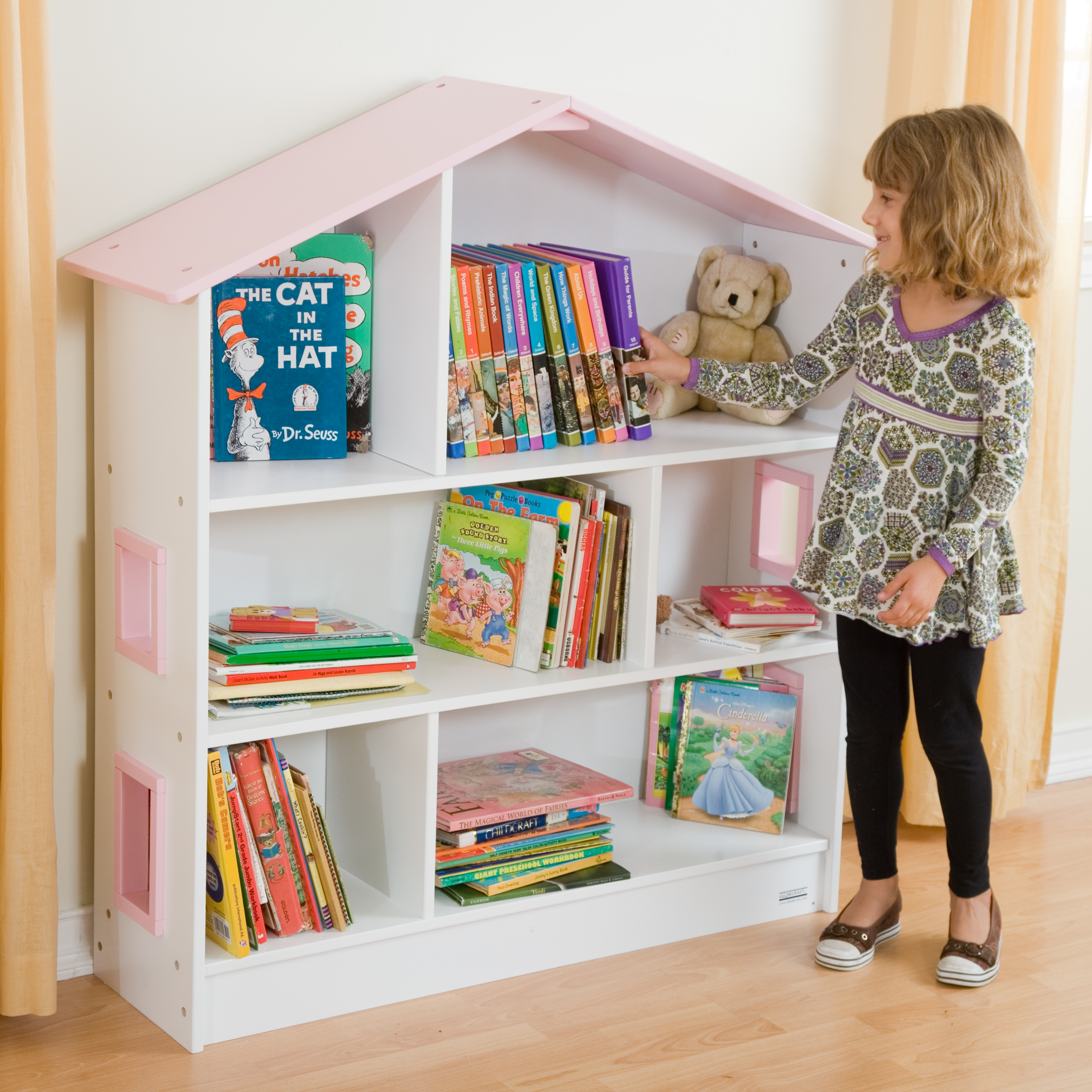 Bookshelf Storage Chest Kids Toy Box Plastic Play Room: Guidecraft Dollhouse Wood Bookcase At Hayneedle