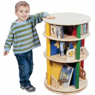 Guidecraft Moon and Stars Carousel Wood Bookcase