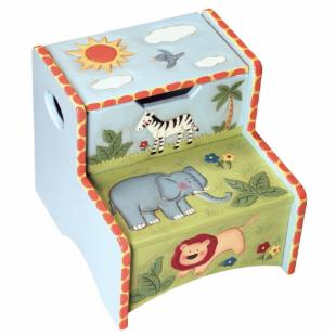 Guidecraft Safari Animals Step-Up Stool