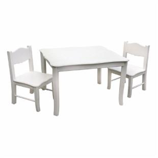 Guidecraft Classic White Table &amp; Chair Set