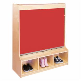 Guidecraft Hideaway 3 Section Locker - Red